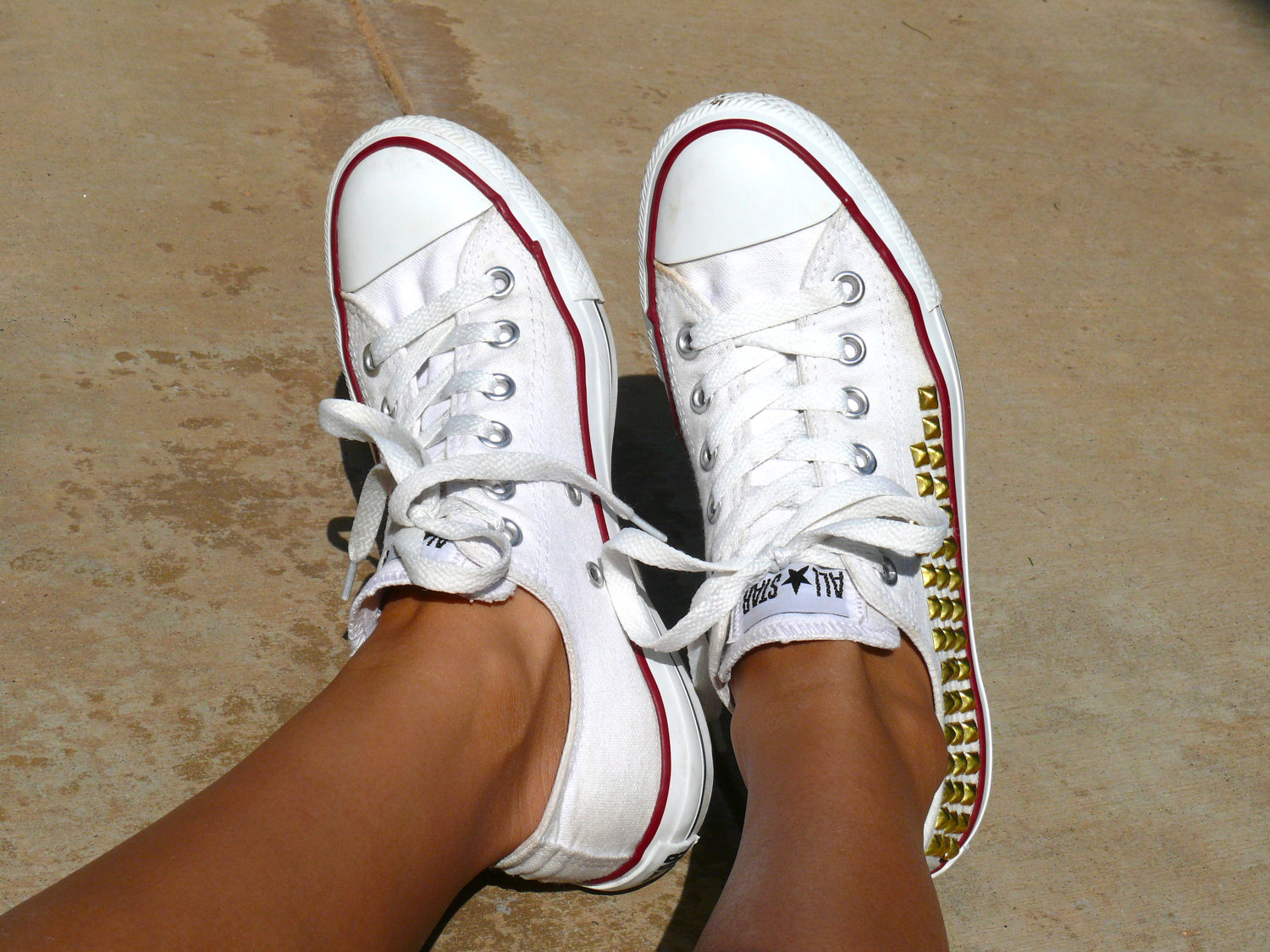 converse blanche strass
